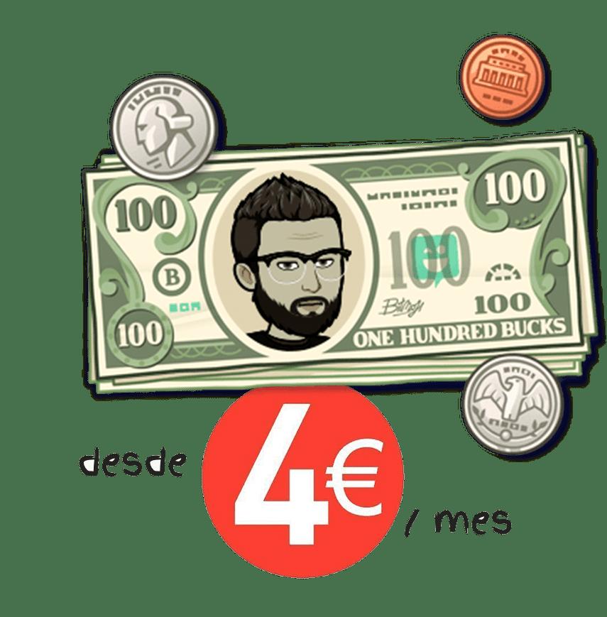 desde cuatro euros al mes